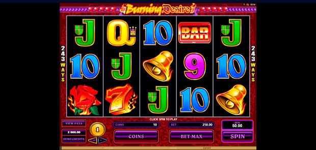 Игровой автомат Burning Desire: описание и правила